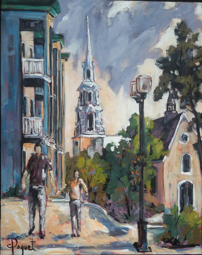 Rue St-Germain Rimouski (Acrylique-24