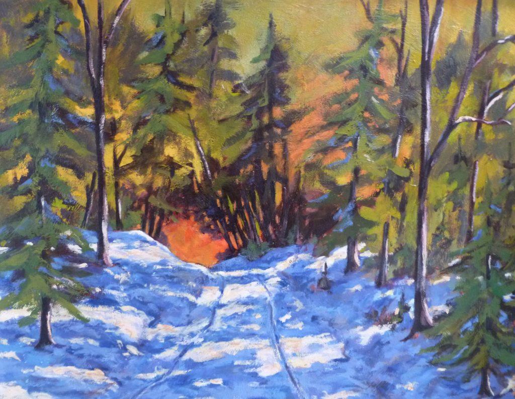 La paix des bois Mont-Comi (Acrylique-20\'\'x 24\'\') 660$